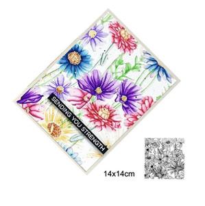 Flor selvagem morre o estêncil de silicone morre stencil para scrapbooking álbum de fotos Embossing cartões de papel decorativo modelo de artesanato mar gwc5276