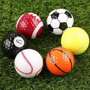 Outdoor novidade Bolas coloridas Sports Golf Golf Jogo Strong Resiliência Força Sports Prática engraçados Balls presente Indoor