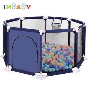 Imbaby Playpen للأطفال playpen مثمنة مساحة كبيرة أطفال خيمة بركة بركة الطفل بلاي بول بركة للطفل سياج أطفال خيمة Y200803