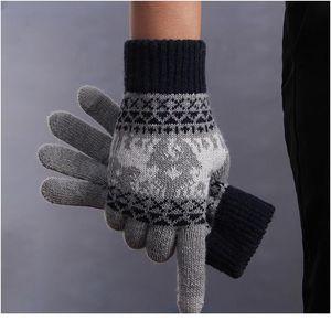 Gants Femmes Touch Screen Gants d'hiver Tricoter des gants de Noël Conduite Rekawiczki Luvas de Inverno Guant Sqquier