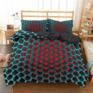 Boniu 3d Luxury Bedding Sets Geometric Print Duvet Cover Pillowcase 3pcs Twin Queen King Size Bed Clothes For Home