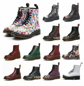 Diseñador de moda 1460 Tobillo 1461 DR PLAWERS MARTIN FOX 2976 Hombres Mujeres Mujeres Piel Snow Martins Boot Desert Doc Boots