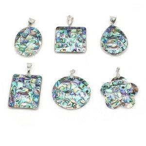 1pcs Coquille naturelle Pendentif Mère de perles Charms ronds Abalone Shell Pendentif pour bijoux Faire bricolage collier femme bijoux cadeau1