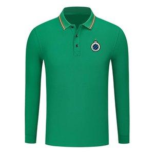Club Brugge Art und Weise Baumwolle Langarm-Shirt Männer Revers Polo Fußball Männer Polohemd Training Jersey Herren Polos slim Polohemd