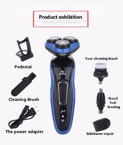 Elektrorasierer 4D drei Kopf schweben Furnier Messer net Herren-Rasierer Wasserwaschschermesser