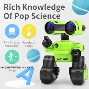 R13 Early Education Robot, Air Gesture& Voice Control, Tell Story, Sound Record, LED Lights, Action Programming, Xmas Kid Birthday Gift, 2-2
