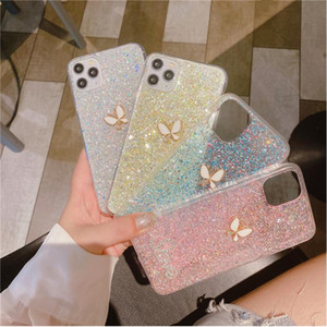 iPhone SE 2020 6 6S 7 8 Plus X XS 11 Pro Max XR Bling 3D Butterfly Soft TPU Phone Case