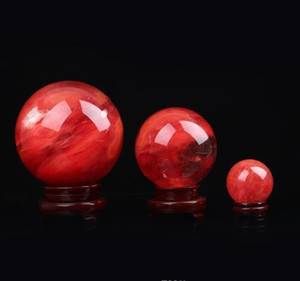 48--55 Mm Red Crystal Ball Red Smelting Stone Crystal Ball Sphere Crystal Healing Crafts Home Doco bbypGl ladyshome