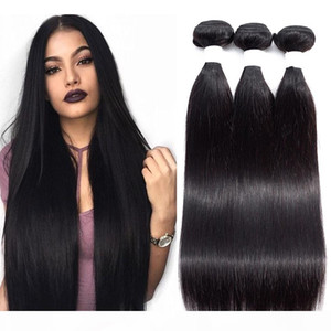 Peruvian Virgin Hair Straight 3 or 4 Bundles Deals Unprocessed Brazilian Indian Malaysian Hair Straight Human Hair Bundles Natural Color