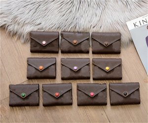 Genuine Leather Clutch Wallet For Women Multicolor Designer Ladies Short Wallet Cardholder Women Mini Purse Classic Zipper Pocket Victorine