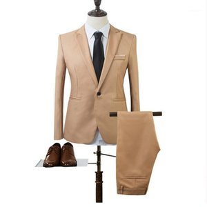Onnpnnq Men Suits Blazer con Pants Slim Fit Casual One Bull Button Jacket per uomo di moda Uomini Suit Brand Men's Blazer Blazer business1