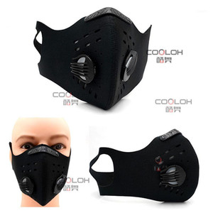 Half Face Mask Reusable Dust Elastic Cycling Outdoor Bicycle Pm2.5 Activated Carbon Sports1