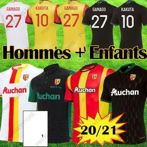 maillots Lens RC soccer jerseys 20 21 GANAGO GRADIT FORTES CAHUZAC PEREZ 2020 2021 RC Lens Football Shirts MAURICIO Kits KAKUTA Equipment