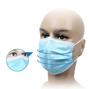 50pcs máscara descartável 3-Layer Máscara Facial Máscara DHL UPS frete grátis Saúde Pessoal com máscaras Earloop Boca Rosto sanitárias