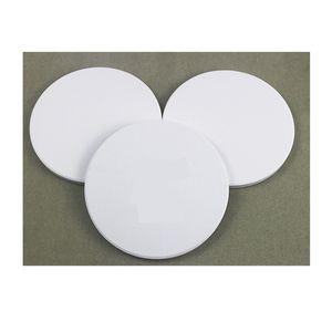 Water Uptake Coaster Ceramics Cup Mats Sublimation Blank White Circular Ellipse Square Coating Fashion Anti wear 1 2tt F2