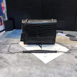 Borse di lusso di alta qualità borse di lusso borsa di coccodrillo sacchetto di lembo tramonto portafoglio donna catena a tracolla borse moda designer borsa