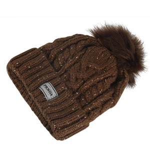 Fur Pompom Hats Crochet Knit Wool Girls Matching Hat Beanie Comfortable Knitting Caps Hip-hop Snap Slouch Skullies Bobble Ball