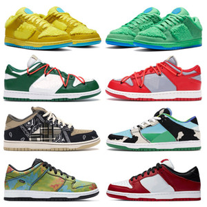 DES Chaussures de skate Nike SB DUNK LOW White off Ben & Jerry's Chunky Dunky TRAVIS SCOTT SP Brazil VALENTINE Hommes Femmes Chaussures de course Sneakers Baskets