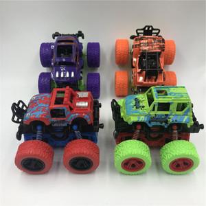 Pull veículo de quatro rodas motrizes Plastic Toy Crianças carro de brinquedo carro novo Inertial off-Road Voltar Stunt Car
