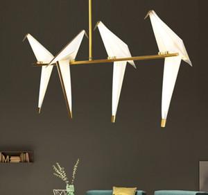 lampade moderne creativo uccello droplight salotto ristorante bar papercranes personalità camera da letto e lanterne di lampade e lanterne