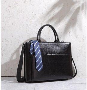 2021 Cossloo Deri Omuz Evrak Çantası Vintage Yalın Çantalar Erkekler ve Kadınlar için Hakiki Kadın Çantalar Ünlü 11AV