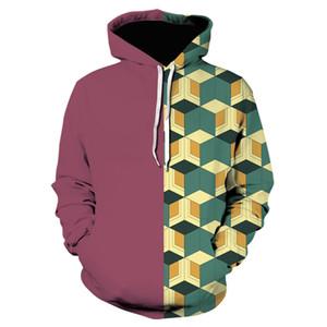 Japanese Anime Demon Slayer 3D Print hoodies Funny Hoodie Hip Hop coat Unisex sweatshirt Cosplay 2019
