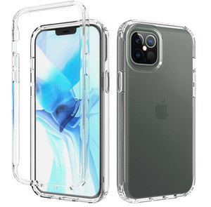 Clear 360 Full TPU Build Screen Protector Defender Dual Layer Phone Case Shockproof Armor Protective Cover for iPhone 12 Mini 11 Pro Max