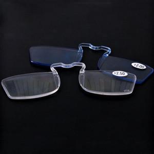 Homens Reading Glasses Mini clipe de nariz pequeno Carteira Idosos Espelho 1.0To3.0 R025