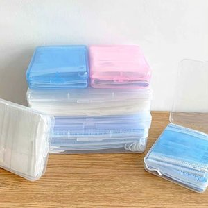 Mask Storage Case Disposable Face Masks Container Safe dustproof Disposable Mask Storage portable Box Organizer KKA2114