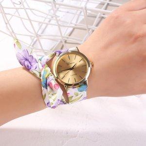 Chicas 2021 mujeres mujeres diseño de calidad reloj de pulsera pulsera vestido reloj de tela de alta moda moda dulce lujo lujo des ver