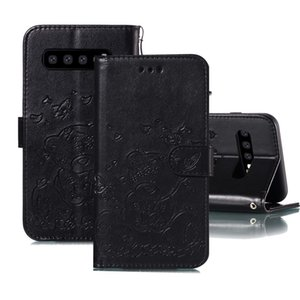 Para Samsung Galaxy S10 Butterfly en relieve amor patrón PU TPU Horizontal Flip Funda de cuero con soporte Tarjeta Slots Wallet Photo Fra