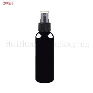 30pcs / lot de 200 ml contenant du noir de vider le pulvérisateur plastique rond 200cc parfum bouteilles brouillard de pulvérisation flacon pompe claire