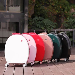 Can sit Women Korean Rolling Luggage Spinner 20 inch High capacity Fashion Travel Bags Password Cabin Suitcase Wheels LJ201118