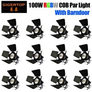 100WLED COB RGBW 4в1 Par свет с DMX 512 Полноцветный COB PAR Wash свет быстрая перевозка груза для дня рождения Музыка партии танцзал
