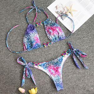 Jewal Comsuit Женщины Бикини набор украшений Купальники Сексуальный купальный костюм нажимание зеленых камней купальники Swimsuits Y200319