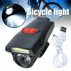 Super Bright Waterproof LED Bike Bicycle Light IPX6 USB Rechargeable Headlight Taillight LED COB Lamp 18650 Built-in Battery