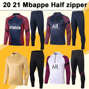 20 21 MBAPPE ICARDI Mens спортивный костюм футбол Джерси KIMPEMBE Draxler DI МАРИЯ Tracksuit Kit Top VERRATTI MATUIDI Красный Синий маек