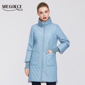 Miegofce 2020 kadın moda parkas ceket kadın bahar ceket eşarp kadın ceket ilkbahar sonbahar yeni varış sıcak satış1
