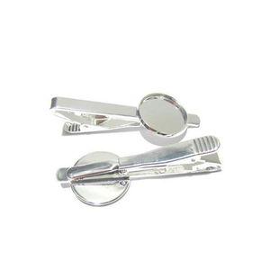 Beadsnice Tie Clip Blank с 18 мм круглая кабошон настройка латунные моды ювелирных изделий галстуки зажима зажимают для создания ювелирных изделий ID 23045 Tovmi