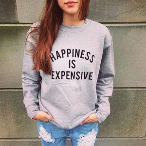 Letter happiness Hoodies Sweatshirts 2020 Women Casual Kawaii Harajuku new Sweat Punk for Girls Clothing European Tops Korean