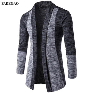 Mode PADEGAO Automne Hommes Patchwork Veste Slim Casual hommes Outwear ouvert Vestes point de baseball Jaquetas De Couro PDG050