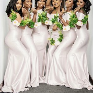 2021 Fashion Bridesmaid Dresses African Mermaid Junior Wedding Party Guest Gown Maid of Honor Dress Custom Made One Shoulder Long