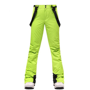 -35 Degree Snow Pants Plus Size Elastic Waist Lady Ski Skiing Trousers Winter Skating Pants Skiing Outdoor Trekking Ski Pants for Women TS59