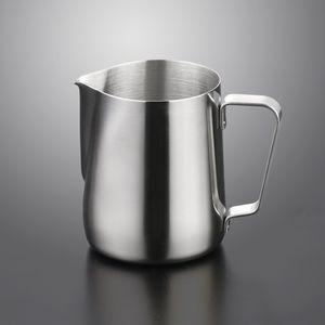 Jarra de espuma de leche de acero inoxidable 5 7 12 20 oz leche crema taza de café Café de café Latte espuma de jarra Cappuccino Pull Flower Sea Barco DHE2609
