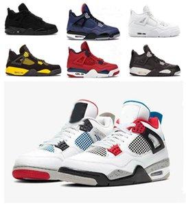 Yeni Jumpman Erkek Oreo Gri Silt Kırmızı sıçramak Sıcak Punch 4 4s Basketbol Ayakkabıları En Erkekler Yeşil büyütün En İyi Kalite Spor Sneakers Soğuk Bred