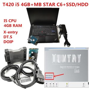 T420 laptop diagnostic PC 4g CPU with MB Star multiplexer C6 mb star c6 vci Diagnosis with newest software V2020.09