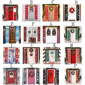 Coplas puerta de la Navidad Feliz Navidad Cortina Banner Banner Porche puerta colgando banderas muestra que cuelga las decoraciones de Navidad Cortina Couplet DWC2617