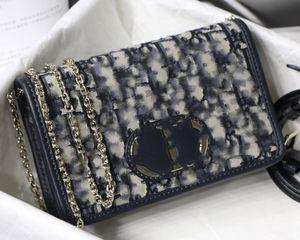 Çanta Kanvas Kadın WOC çanta 30montaigne g2 eğik Yeni moda kadın Üstüne binilir omuz sırt taşınabilir tasarımcının el çantası