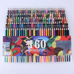 Colorful 48 72 120 160 Ink Colored Pencils Set Oil Pen for Kids School Office Drawing Painting Graffiti Color Pencils Stationery Y200428