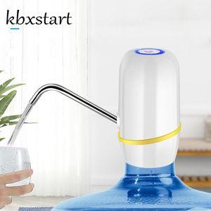 물 디스펜서 KBXSTART Dispensador de Agua embotellada 미니 룸 데스크탑 전기 병 펌프가 춥고 열 수 없습니다